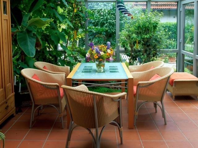 Зимний сад и внутренний домик