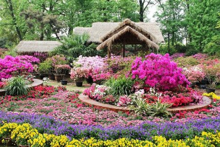 Как можно украсить садовый участок