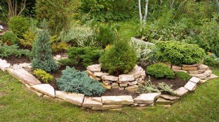 Сад из камней и рокарий на дачном участке