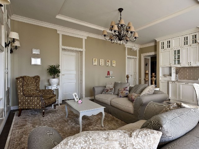 Кантри гостиная в квартире
