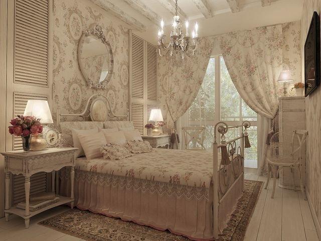 Прованс в дизайне спальни