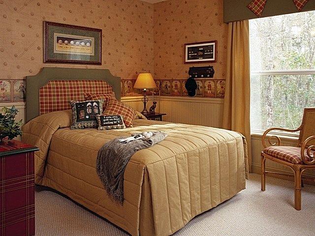 Стиль канти в квартире в спальне