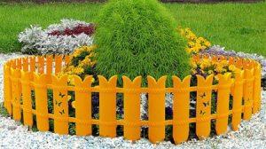 Ограда клумбы