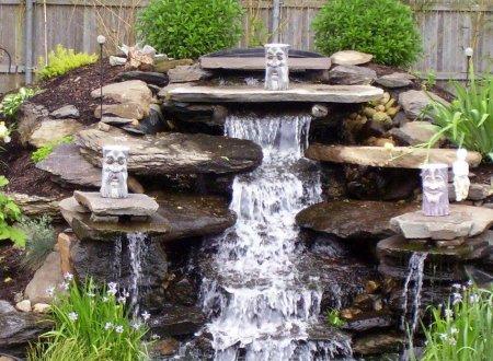 Создаем водопад на приусадебном участке