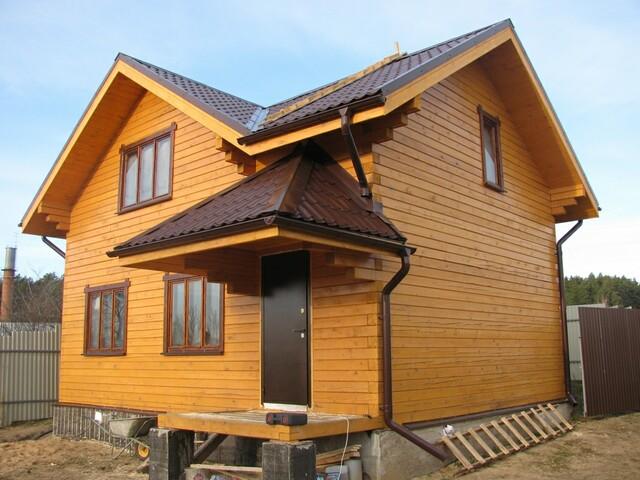 Дом из пиленого бруса