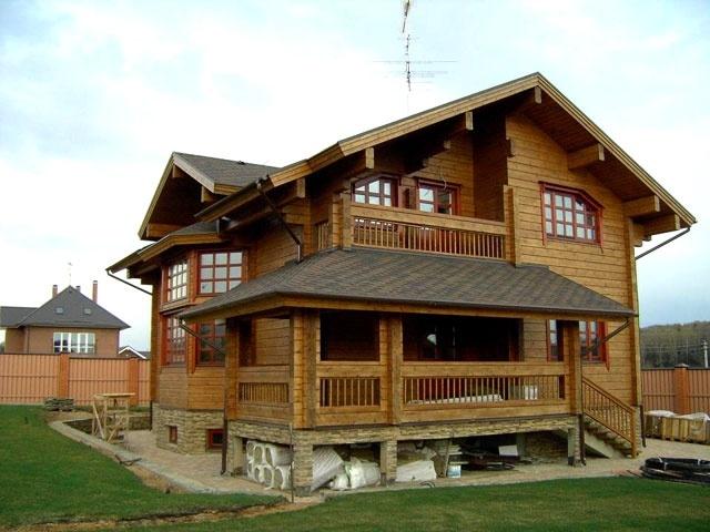 Дом из струганного бруса