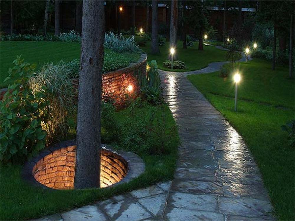 Садовые фонари для освещения дачного участка