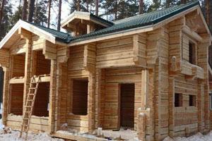 Строительство деревянного дома из лафета