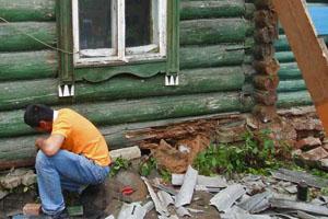 Замена венцов деревянного дома