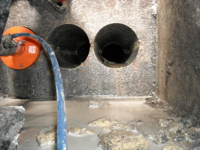 Алмазное бурение канализации