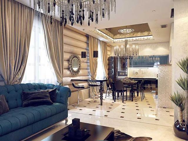 Гостиная в стиле Ар-деко