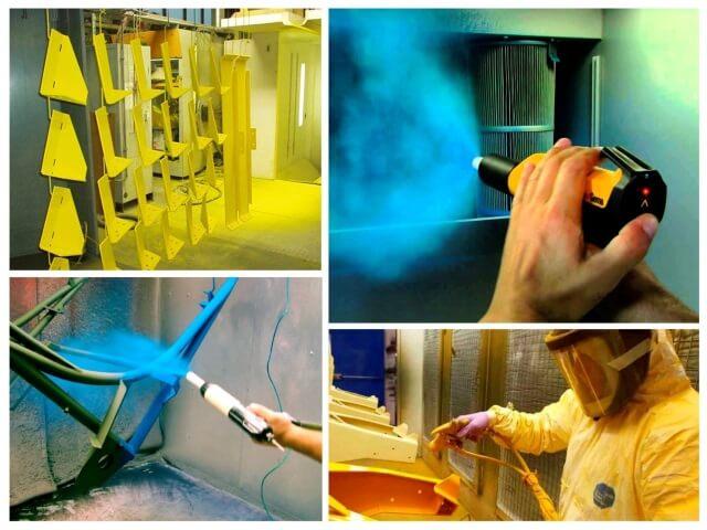 Как проходит покраска металла порошковой краской