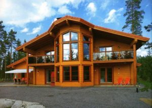 Про современный бревенчатый дом