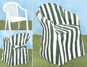 Пластиковое кресло в чехле