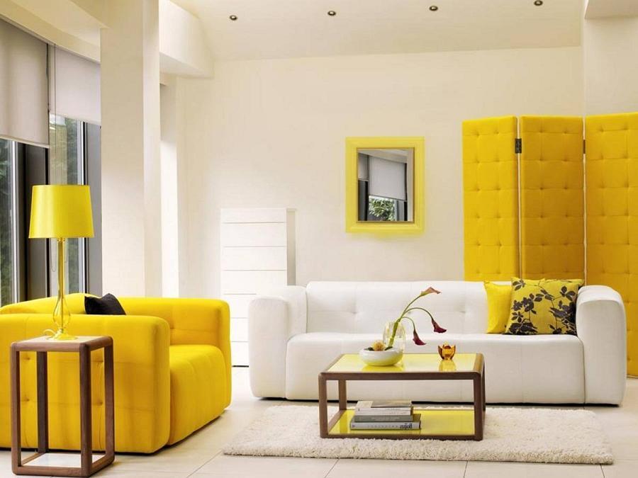 Желтая мебель