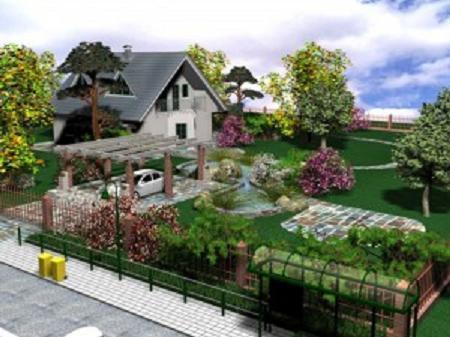Планирование дизайна сада в трех измерениях можно осуществлять при помощи специальных программ
