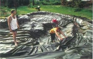 делаем пруд из пленки ПВХ