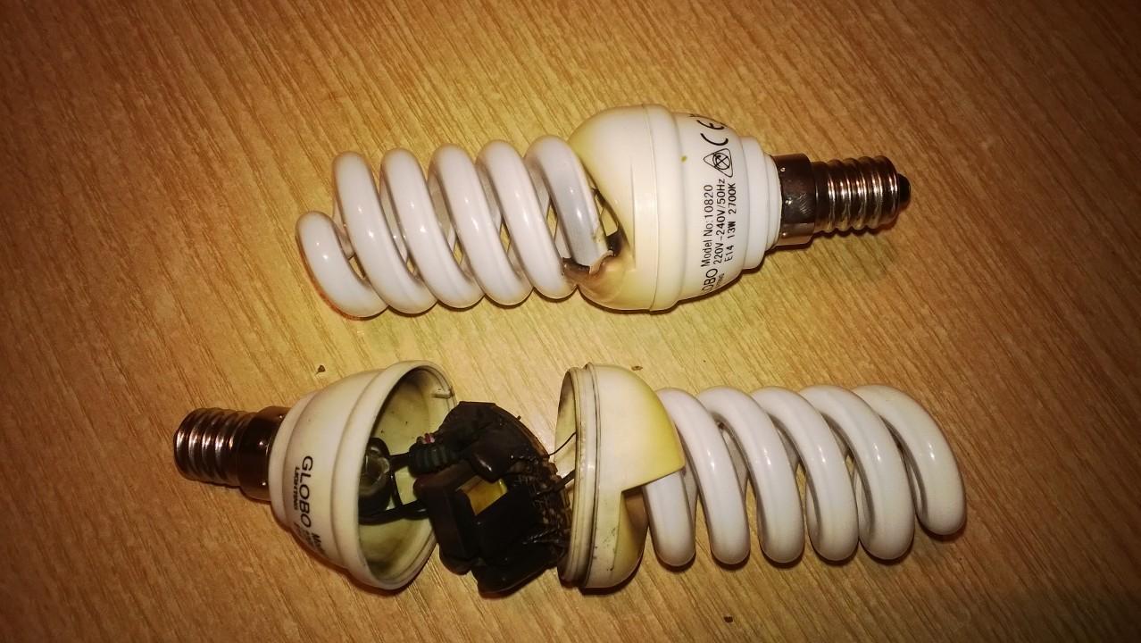 Почему горят энергосберегающие лампы
