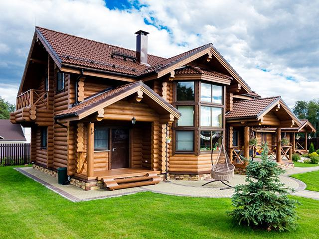 Дом из оцилиндрованного бревна — залог здоровой жизни