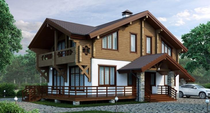Конструкция комбинированного дома