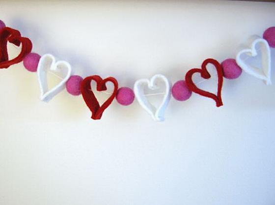 Интерьер в день Святого Валентина - фото