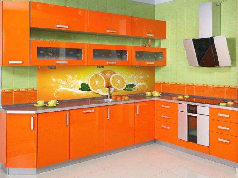 Как использовать оранжевый цвет на кухне