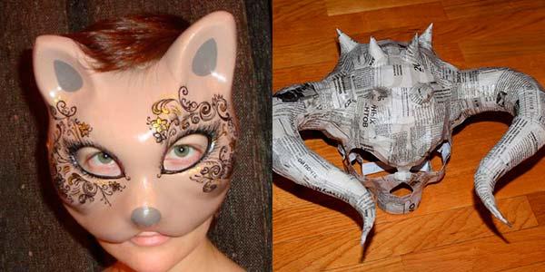 Еще маски, сделанные из массы для папье-маше