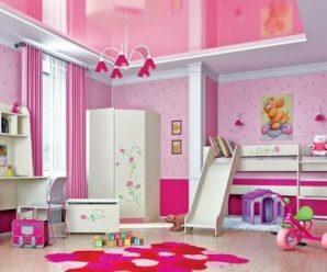 Детские комнаты в розовых тонах