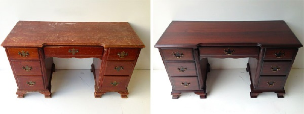 Реставрация деревянной мебели своими руками. До и после