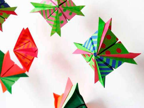 Новогодние украшения своими руками из модульного оригами