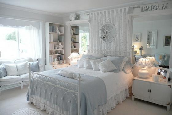 Многообразие белых интерьеров. Интерьер спальни в белых тонах