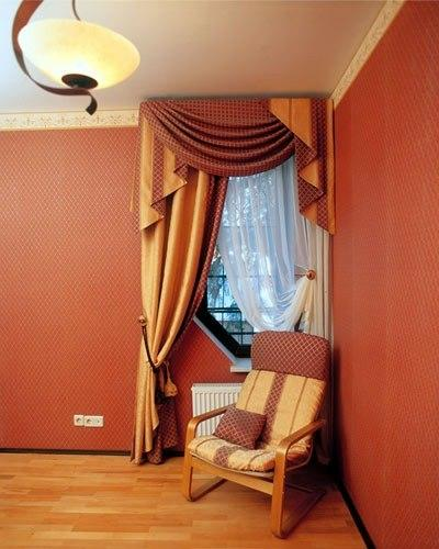 драпировка стен - отделка стен тканью
