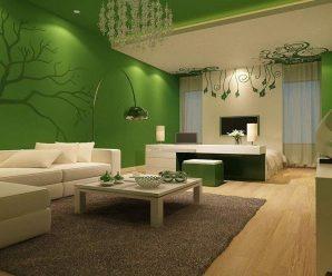 Зеленый цвет в интерьере и его сочетания