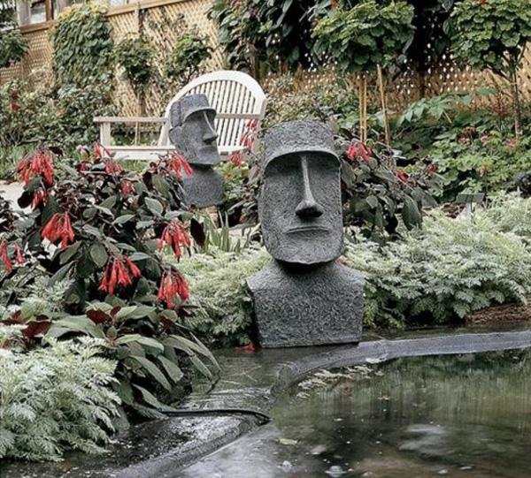 Забавные скульптуры для сада