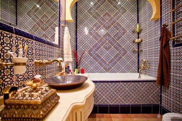 Оформление ванной комнаты в восточном стиле